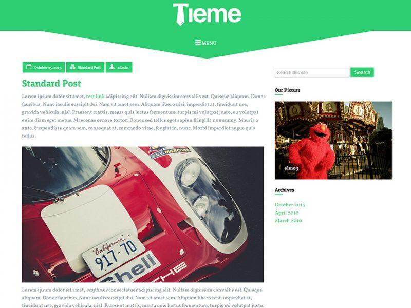 Tieme blog creative theme