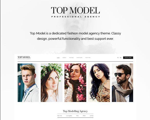 Top Model Fashion WordPress Theme