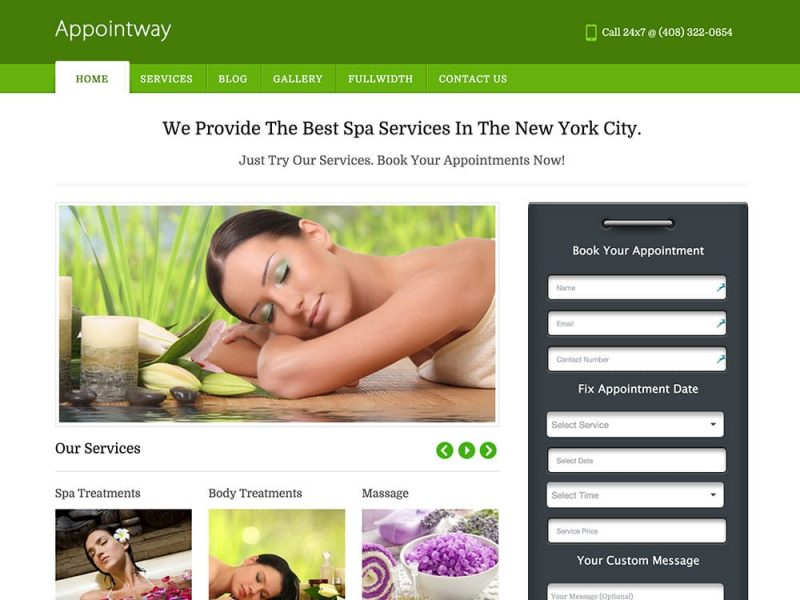 AppointWay Spa Theme