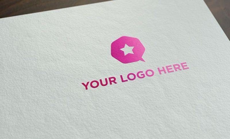 Free Realistic Logo Mockup
