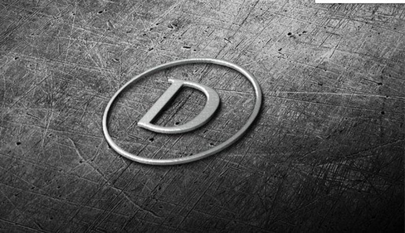 3d Steel Logo Mockup