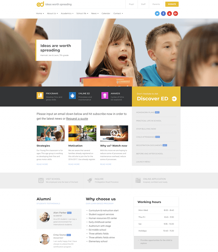 Ed School WordPress Theme