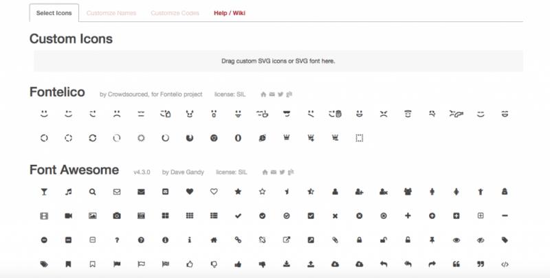 Fontello Font generator