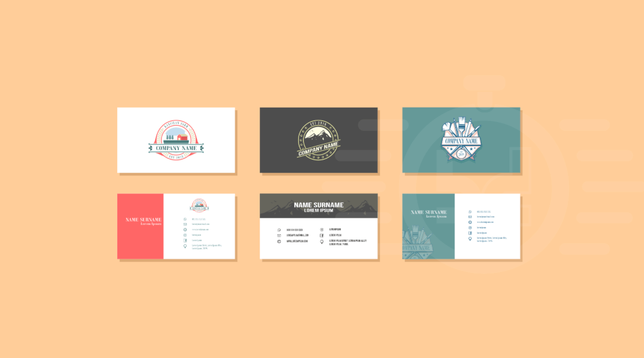 Colorful Business Card Content Festooning Business Card Ideas