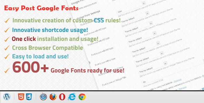 Google Font Plugin
