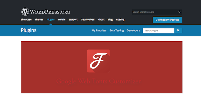 Google Web Fonts Customizer