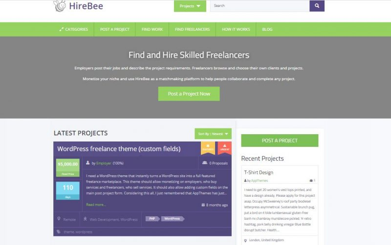 Hire Bee WordPress Theme