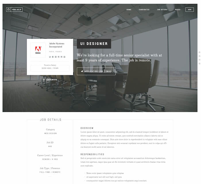 JobsDojo The WordPress Job Board Portal Theme