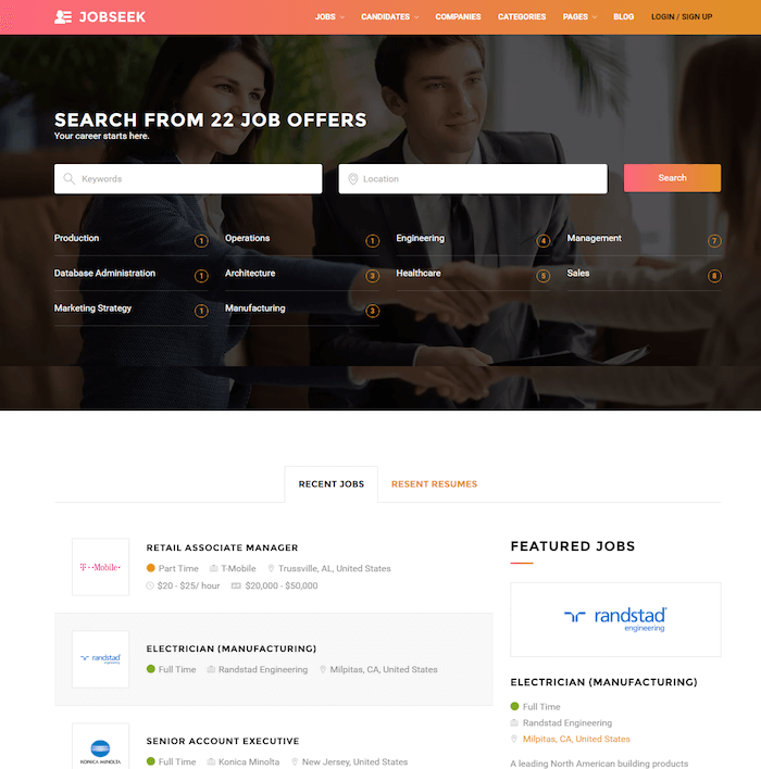 Jobseek-Job-portal-WordPress-theme