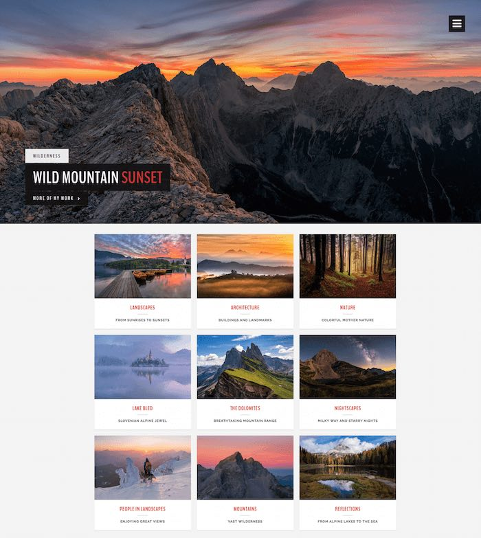LandScape Photography WordPress Theme