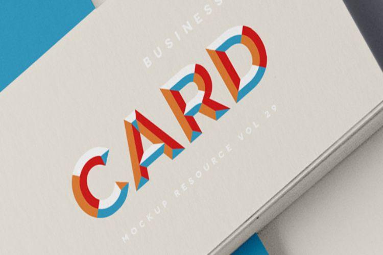 PSD Business Card Mockup