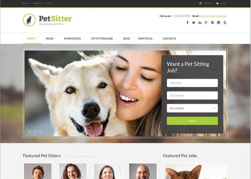 PetSitter WordPress Theme