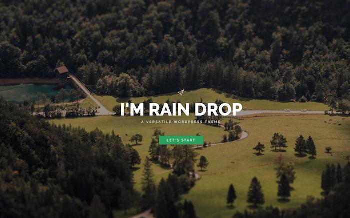 Raindrop full-screen