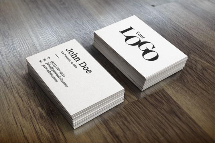 White Stacks Business Card Mockup