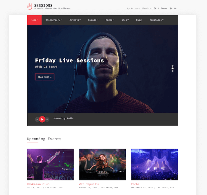 Sessions Music WordPress Theme