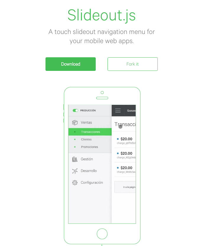 Slideout Mobile Menu Plugin