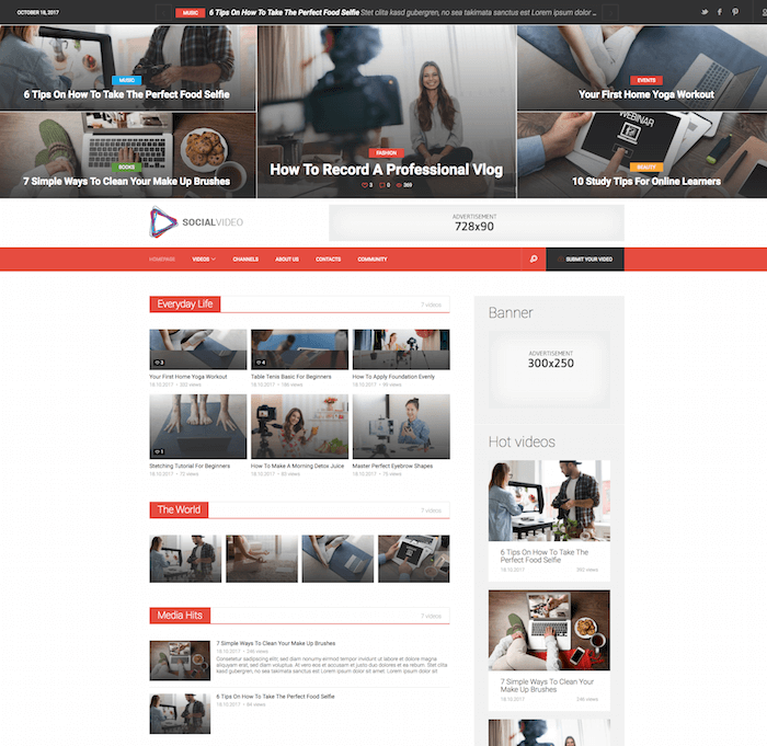SocialVideo Theme