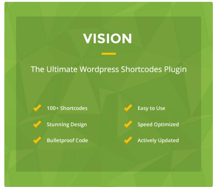 Vision WordPress Shortcodes Plugin