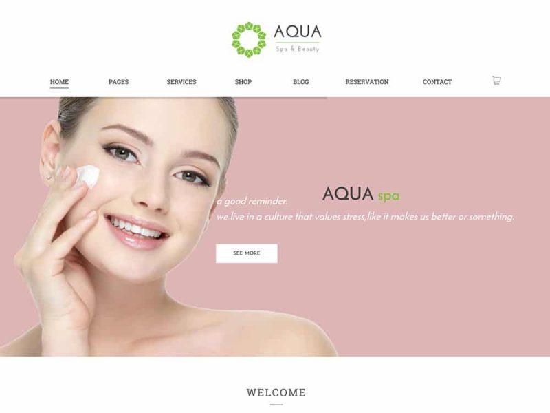 Aqua WooCommerce Spa and Salon Theme