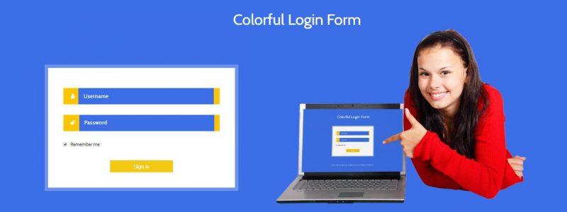 Colorful Login Form
