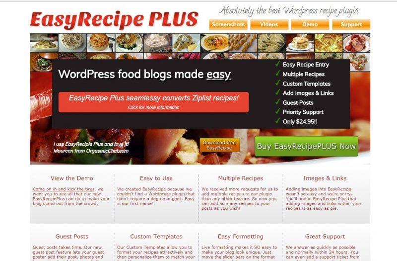 Easy Recipe plugin