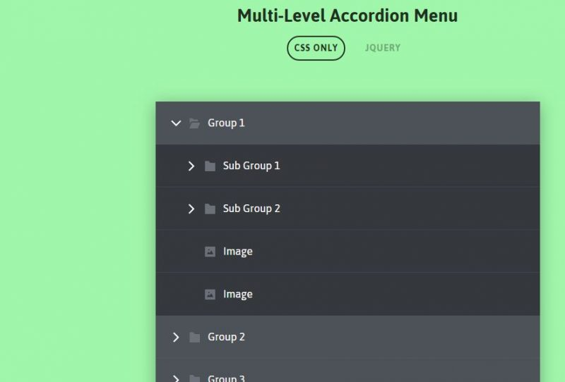 CSS Accordion Menu