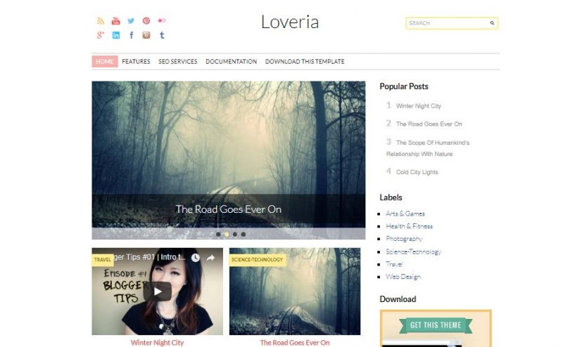 Loveria Fashion Blog Theme