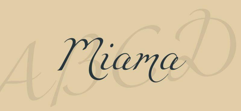 Miama Script Font
