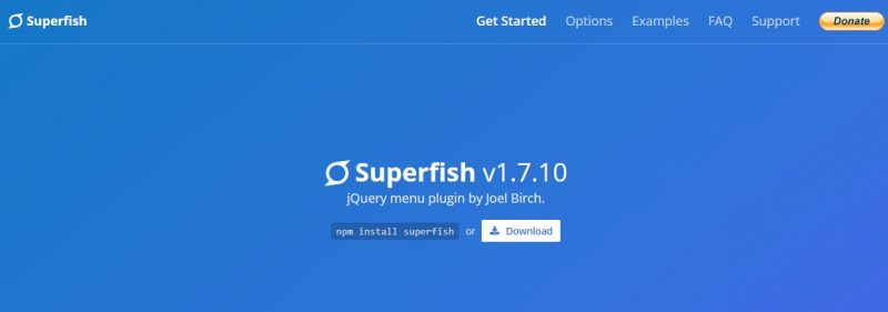 Superfish- Free Dropdown Jquery Menu