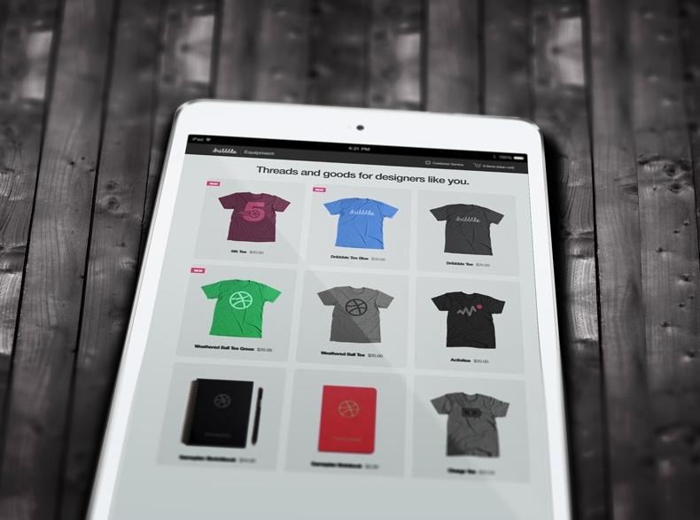 iPad Mockup close-up