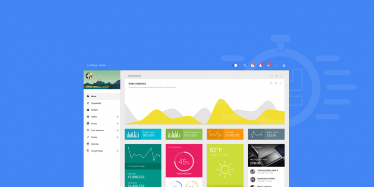 Best Angular Material Design Admin Templates