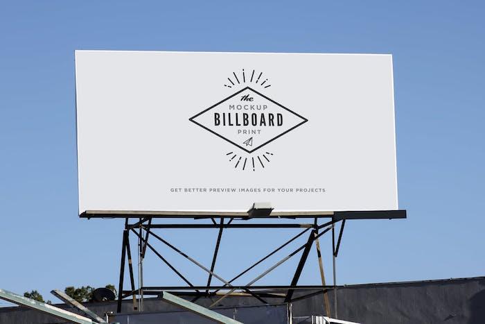 Billboard Street Indie Print Mock-Up