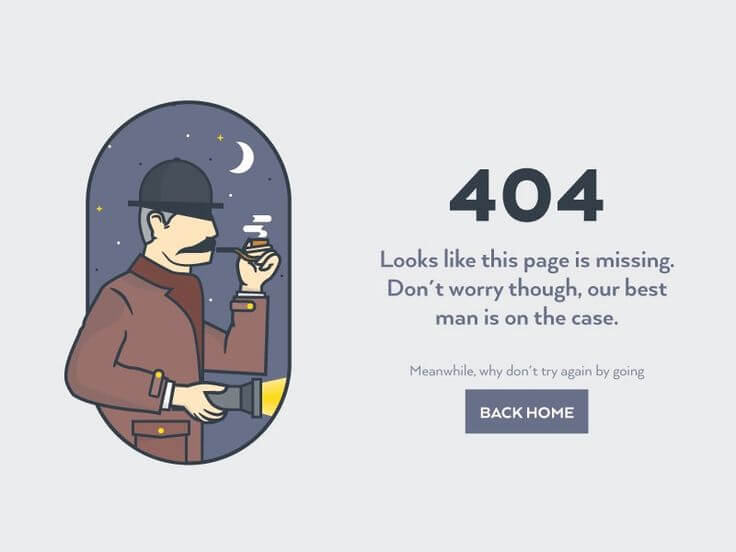 Attractive 404 Error Page