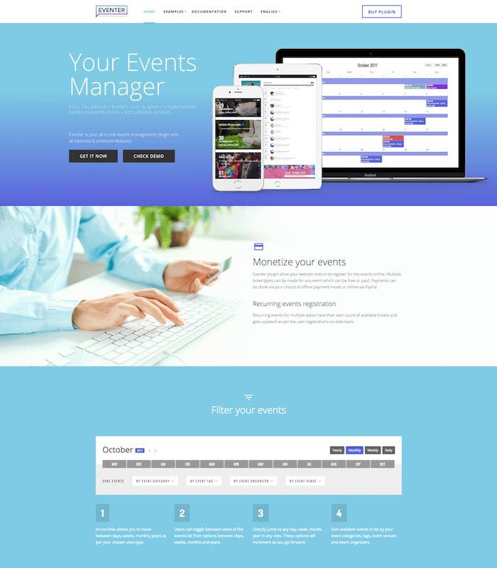 Eventer WordPress Plugin
