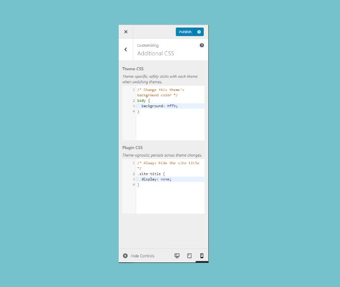 Modular Custom CSS