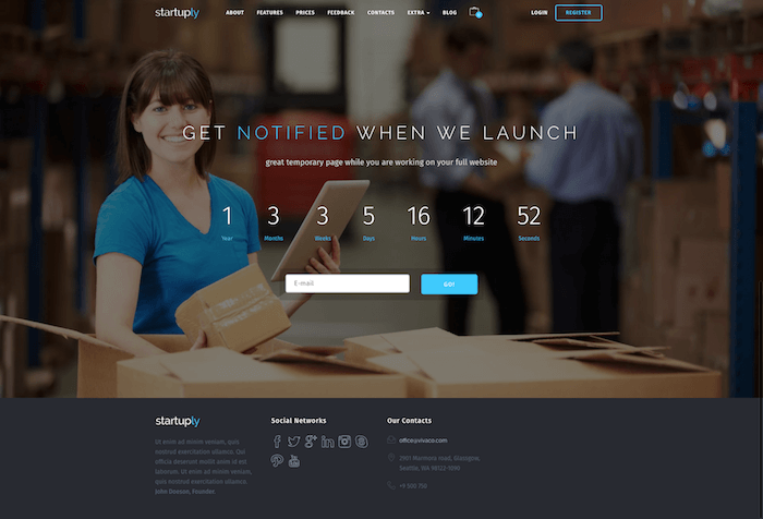 Startuply Coming Soon Theme