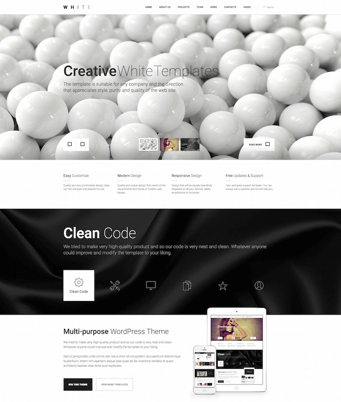 White HTML5 Template