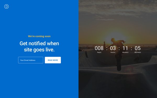 divi-coming-soon-pages-layout
