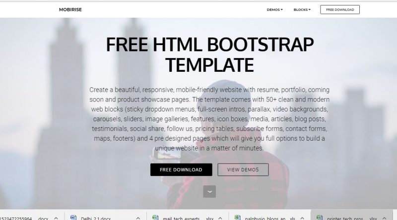 Mobirise Bootstrap Template