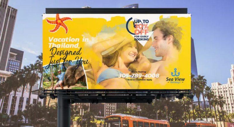 Travel Billboard Banner Template