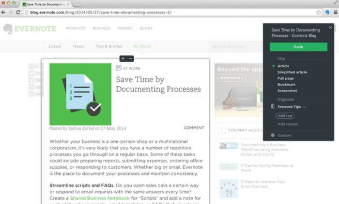 Evernote Web Clipper for Firefox