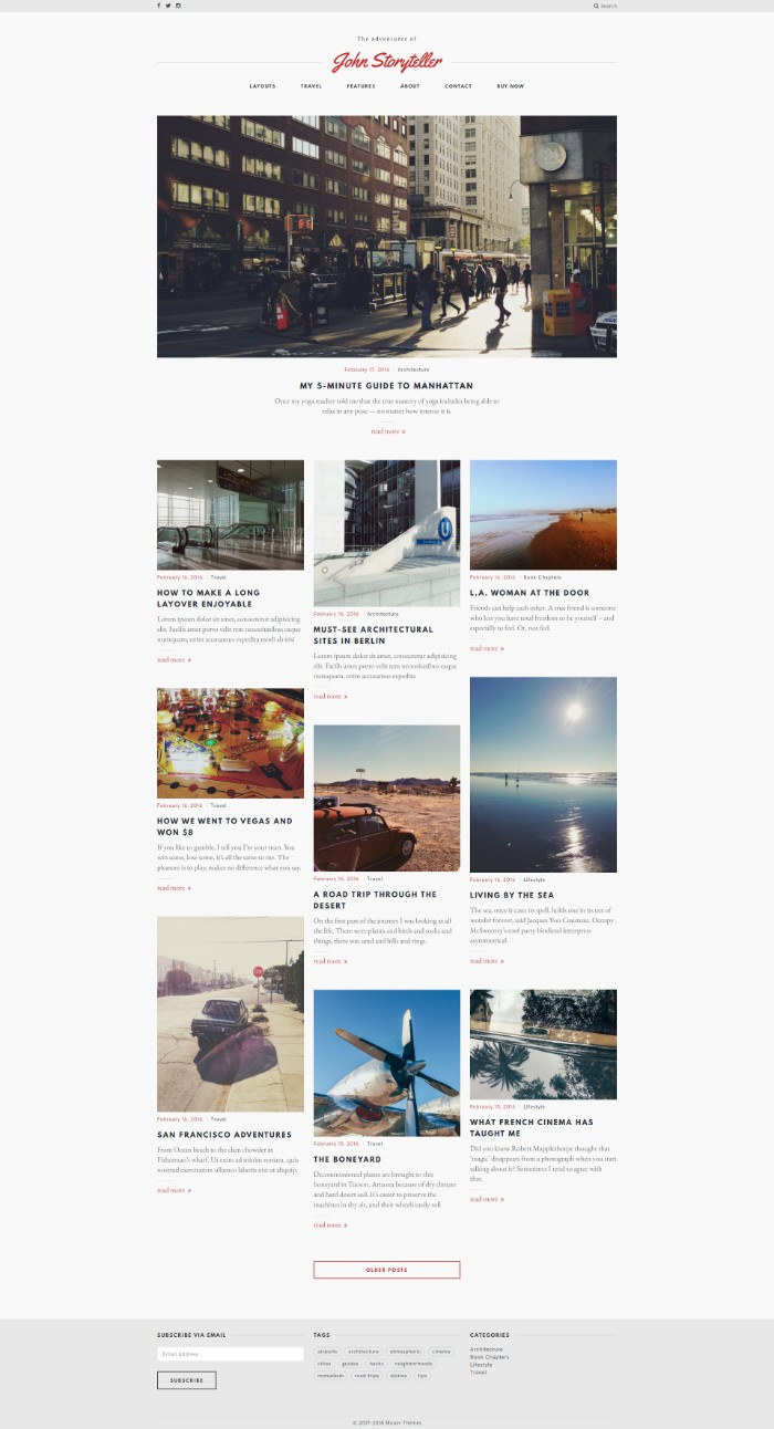 storyteller WordPress Theme