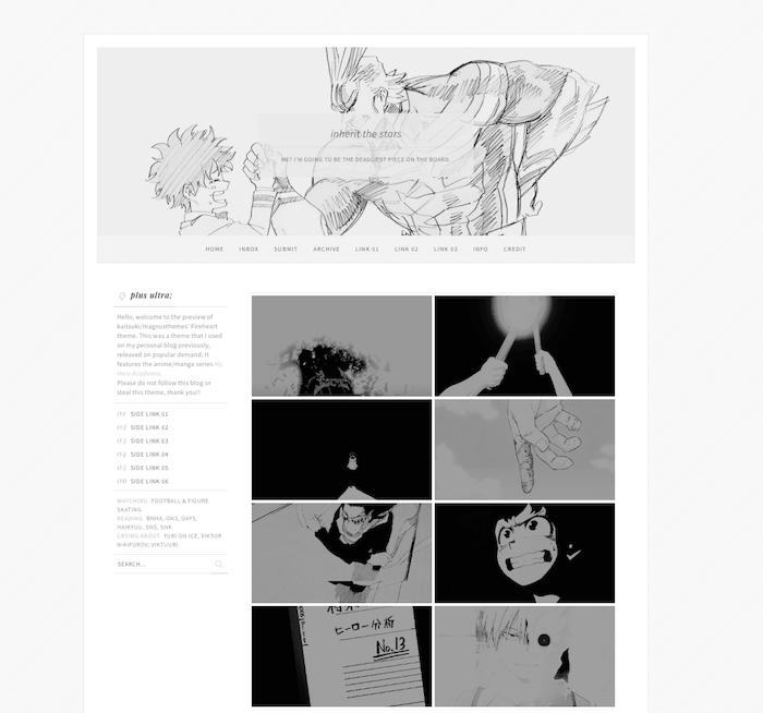 Fireheart Clean Tumblr Theme