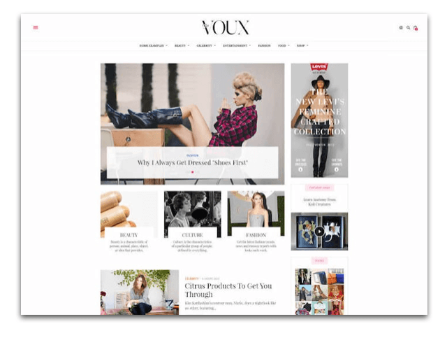 General Fashion Blog Demo Voux Theme