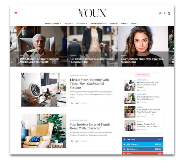 The Voux Fashion Magazine Theme