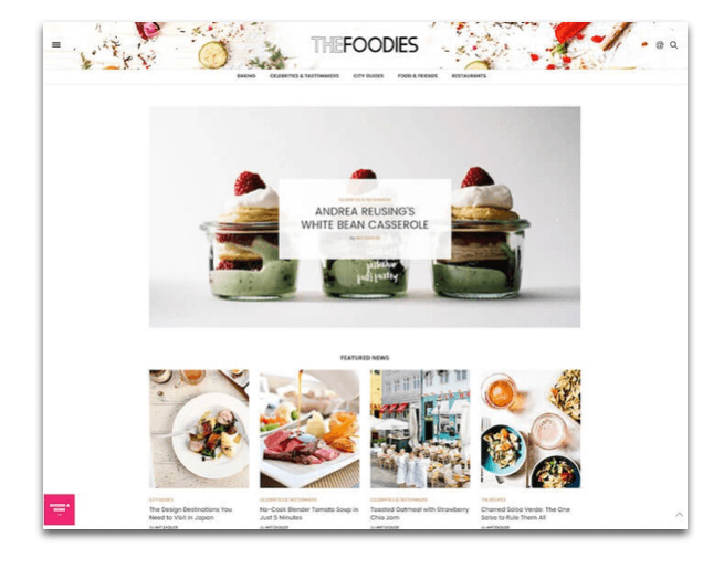 The Voux Food Blogging Theme