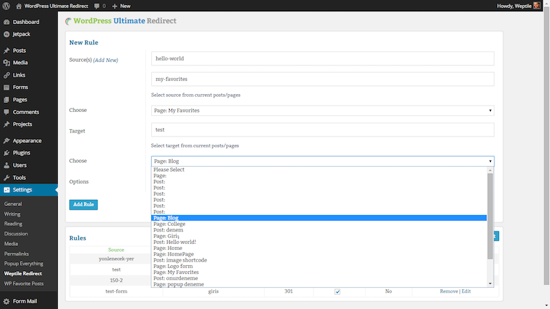 WordPress Ultimate Redirect Plugin