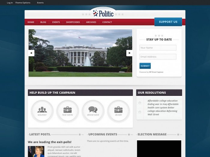 politic WordPress theme
