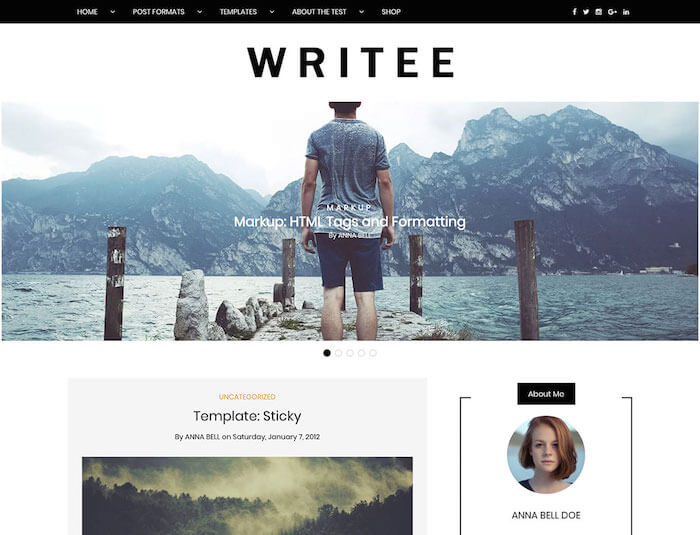 writee-free-personal-blog-wordpress-theme