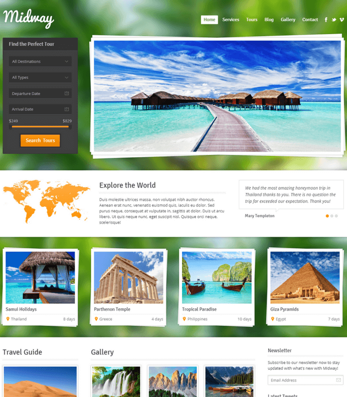 midway wordpress theme